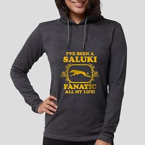 4-Saluki Womens Hooded Shirt