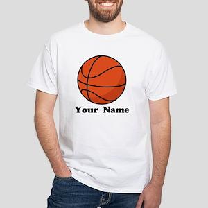 Personalized Basketball White T-Shirt