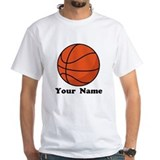 Basketball Mens Classic White T-Shirts