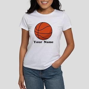 Basketball gifts cafepress personalized basketball womens t shirt negle Choice Image