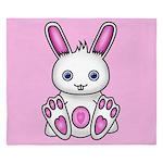 Kawaii Pink Bunny King Duvet