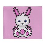 Kawaii Pink Bunny Throw Blanket