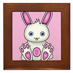Kawaii Pink Bunny Framed Tile