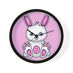 Kawaii Pink Bunny Wall Clock