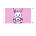 Kawaii Pink Bunny Banner