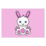 Kawaii Pink Bunny Large Poster