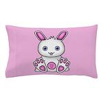 Kawaii Pink Bunny Pillow Case