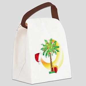 Christmas SC Palmetto Moon Flag Canvas Lunch Bag
