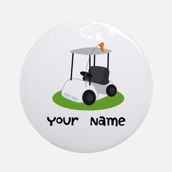 Golf Cart Gift For Golfer Ornament (Round)