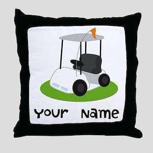 Golf Cart Gift For Golfer Throw Pillow
