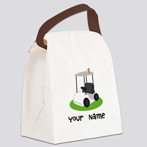 Golf Cart Gift For Golfer Canvas Lunch Bag