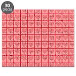 Polka Dot Heart Pattern Puzzle