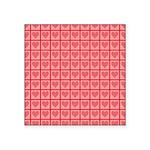 Polka Dot Heart Pattern Square Sticker 3