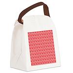Polka Dot Heart Pattern Canvas Lunch Bag