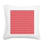 Polka Dot Heart Pattern Square Canvas Pillow