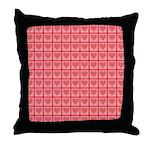 Polka Dot Heart Pattern Throw Pillow