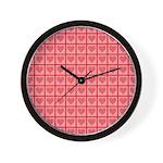 Polka Dot Heart Pattern Wall Clock