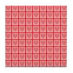 Polka Dot Heart Pattern Tile Coaster