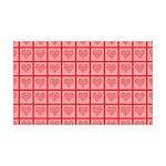 Polka Dot Heart Pattern 35x21 Wall Decal