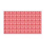 Polka Dot Heart Pattern 20x12 Wall Decal