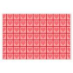 Polka Dot Heart Pattern Large Poster
