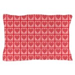 Polka Dot Heart Pattern Pillow Case
