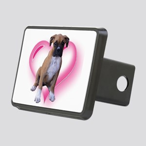 Heart Boxer Puppy Rectangular Hitch Cover