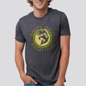 Largemouth bass jumping Mens Tri-blend T-Shirt