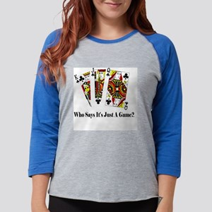 001 who says royal Womens Baseball Tee