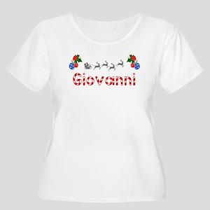 Giovanni, Christmas Women's Plus Size Scoop Neck T