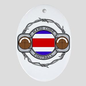 Costa Rica Football Oval Ornament