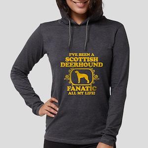 4-Scottish-Deerhound Womens Hooded Shirt