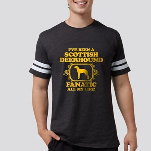 4-Scottish-Deerhound Mens Football Shirt