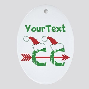Customize © Cross Country Xmas Oval Ornament