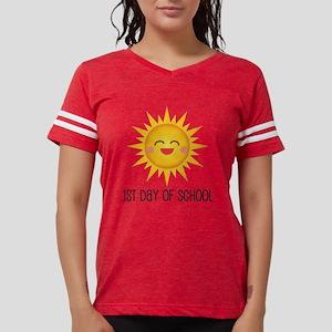 1st Day Of School Happy Sun Womens Football Shirt
