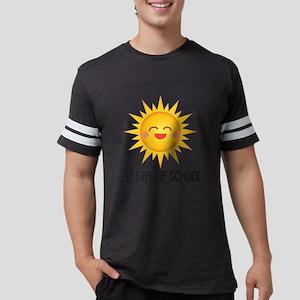 1st Day Of School Happy Sun Mens Football Shirt