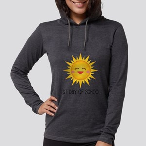 1st Day Of School Happy Sun Womens Hooded Shirt