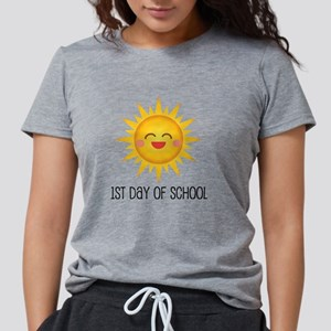 1st Day Of School Happy S Womens Tri-blend T-Shirt