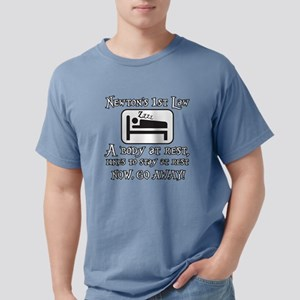 Newtons law of motion -  Mens Comfort Colors Shirt