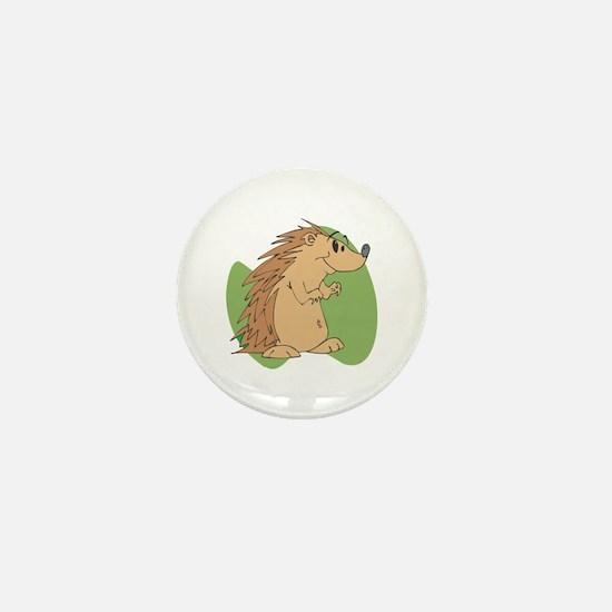 Cute Porcupine Mini Button