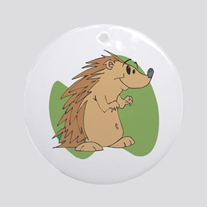 Cute Porcupine Ornament (Round)