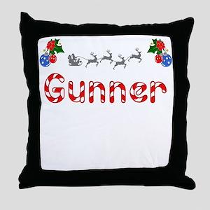Gunner, Christmas Throw Pillow