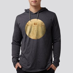 Da Vinci Man Mens Hooded Shirt