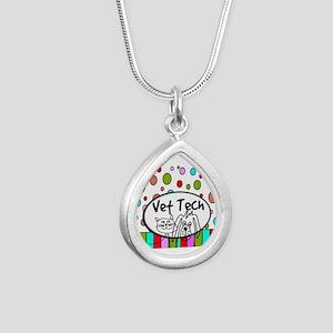 Vet Tech Tote 2 Silver Teardrop Necklace