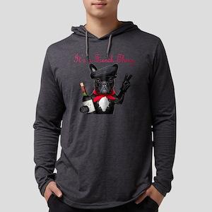 French Bulldog Mens Hooded Shirt