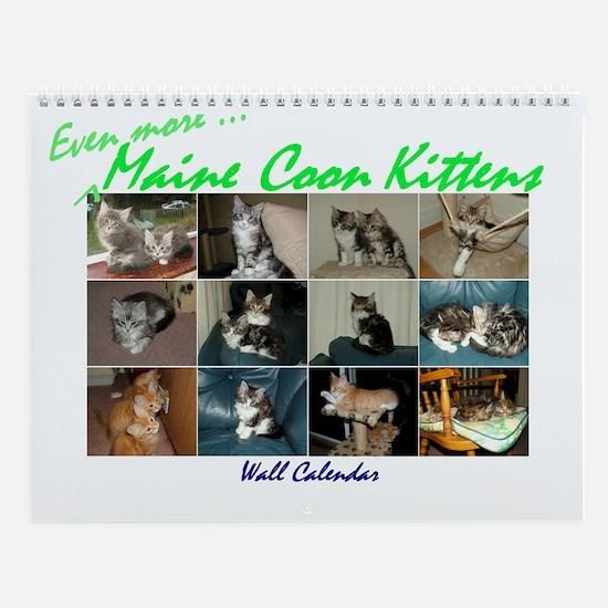 Even more Maine Coon Kittens Wall Calendar