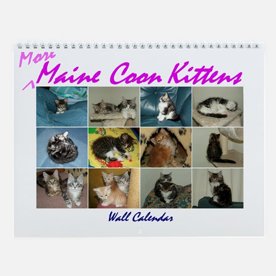 More Maine Coon Kittens Wall Calendar