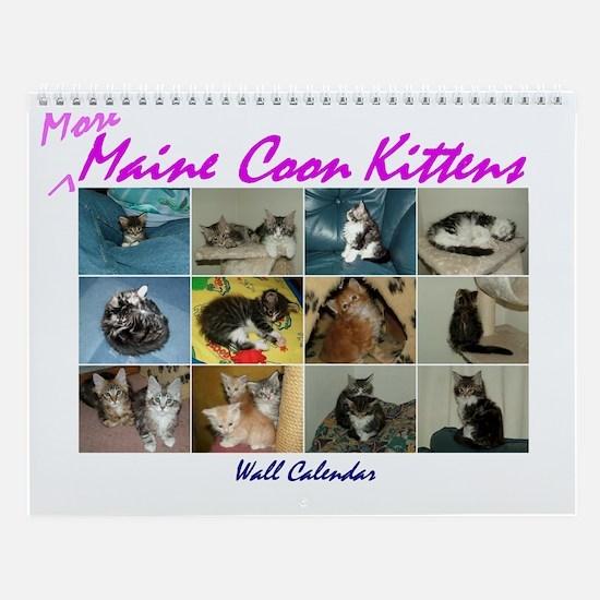 More Maine Coon Kittens Wall Calendar