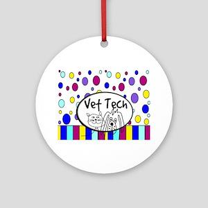 Vet Tech Tote 1 Ornament (Round)