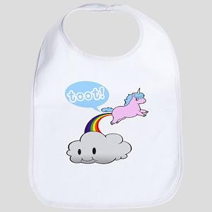 Cute Unicorn Fart! ... TOOT! Bib